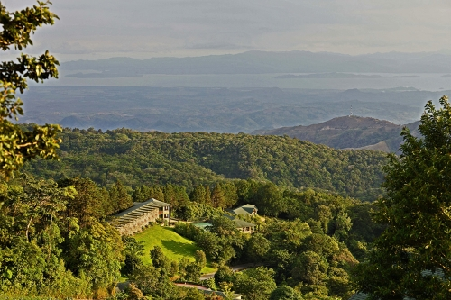The majestic El Establo Mountain Hotel overlooking the Nicoya Peninsula.